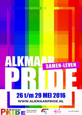 Alkmaar pride 2016 flyer